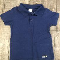 Camiseta polo azul - 3 anos - Alenice
