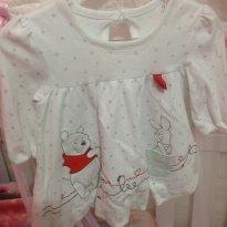 Bata/vestido de manga comprida - 3 a 6 meses - Disney