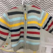 Blusa de linho com capuz - 3 a 6 meses - Baby Club