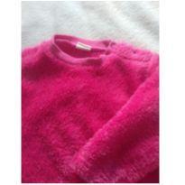 Blusa rosa de pelúcia - 9 a 12 meses - Teddy Boom