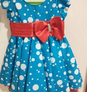 Vestido galinha pintadinha - 12 a 18 meses - Bambina Fashion