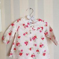 Camisa florida - 0 a 3 meses - Carter`s