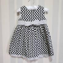 Vestido Preto e Branco florido - 6 a 9 meses - First Impressions