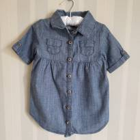 Vestido Camisa Jeans - 18 a 24 meses - Old Navy
