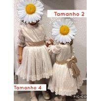 Vestido tamanho 2 - 2 anos - Feito à mão