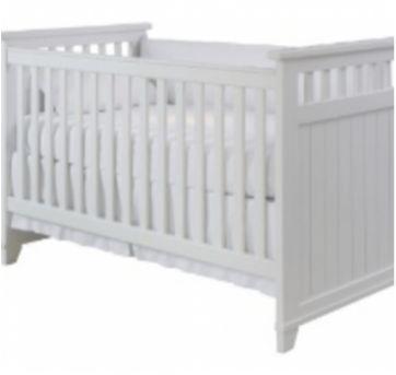 Berço madeira maciça branco com colchão - Sem faixa etaria - Marca não registrada
