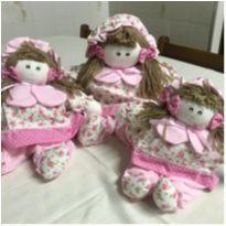 Trio de bonecas de pano. -  - Não informada
