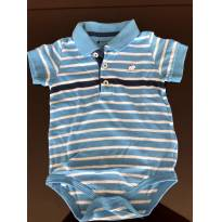 Body Polo Baby Cottons,  tam 6m, usado 1x - 6 meses - Baby Cottons