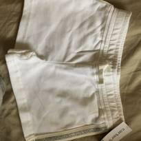 Shorts moletinho branco Carters, tam 4 - 4 anos - Carter`s