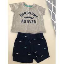 Conjunto Camiseta + shorts Carters, 3 meses - 3 meses - Carter`s