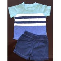 Conjunto Shorts + camiseta Carters, 6 meses, pouco uso - 6 meses - Carter`s