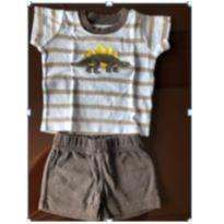 Conjunto Camiseta + Shorts Carters - 3 meses - 3 meses - Carter`s