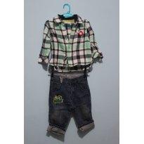 Conj jeans mickei - 6 a 9 meses - Disney