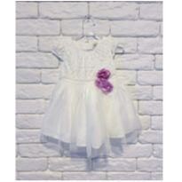 Vestido branco - 6 a 9 meses - OshKosh