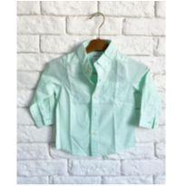 Camisa Social Verde - 1 ano - Carter`s
