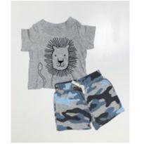 Conjunto Leão Camuflado short e camiseta Carters - 6 meses - Carter`s