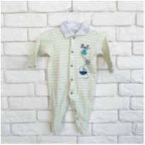 Macacão listrado amarelo - Recém Nascido - Mini & Kids