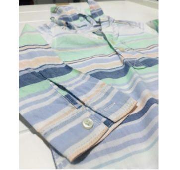 Blusa de manga comprida listrada com capuz da Carters - 18 meses - Carter`s