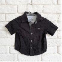 Camisa social manga curta - 3 a 6 meses - Calvin Klein