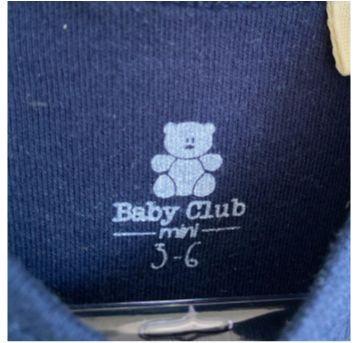 Body menino baby Club - 3 a 6 meses - Baby Club