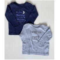 Dupla de camisas de pijama Carters 9 meses - 9 meses - Carter`s