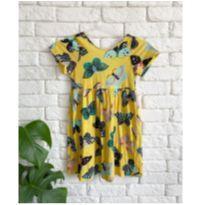 Vestido amarelo borboletas Fabula