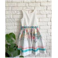Vestido de festa flores - 8 anos - Petit Cherie