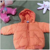 casaco laranja super fofo - 6 a 9 meses - Zara