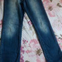 Calça Jeans Confort com cintura ajustável - 10 anos - Figurinha