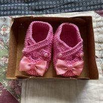 Sapatinho rosa para recém nascido novo - 01 - Não informada