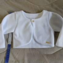 Bolero branco - 9 a 12 meses - Nuvem Azul