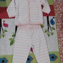 Conjunto rosa de peluche - 6 a 9 meses - Baby Club