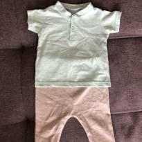 Conjunto camiseta e calça 3/6 meses importado