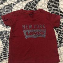 Camiseta 12 meses vermelha - 1 ano - Levi`s