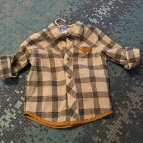 Camisa xadrez oshkosh 18 meses - 18 meses - OshKosh