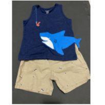 Conjunto tubarão carters - 2 anos - Carter`s