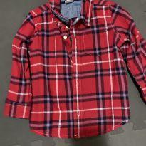 Camisa flanela xadrez gap - 18 a 24 meses - Baby Gap