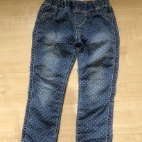 Calça jeans de bolinhas fashion - 2 anos - Importada
