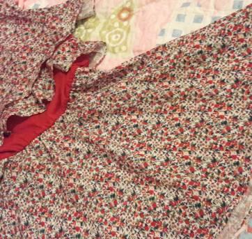 Vestido estampado vermelho - 8 anos - Arte Menor