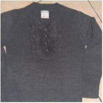 Blusa de lã cinza - 10 anos - Marisol
