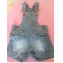 Jardineira jeans - 9 a 12 meses - Marisol