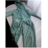 Conjunto Soft Girls Verde com capuz - 12 a 18 meses - Girls