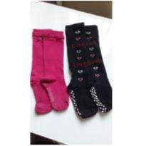 Meia calça de inverno modelo 3/4 - tam 21 - 18 a 24 meses - sem etiqueta