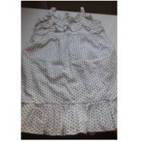 Vestido de tricoline de alcinha regulável - 18 a 24 meses - Não informada