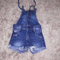 macacão jeans - 1 ano - Renner