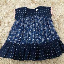 vestido azul - 12 a 18 meses - GAP