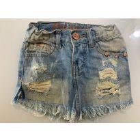 saia jeans desfiada - 3 anos - Puramania