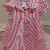 Vestido listrado Ralph Lauren - 6 meses - Ralph Lauren