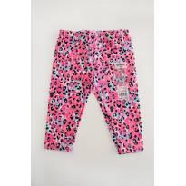 Calça capri animal print rosa - Oshkosh 18M