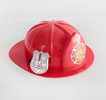 Chapéu de bombeiro + distintivo - Sem faixa etaria - Não informada